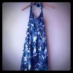 Athleta Tie-Neck Floral Dress